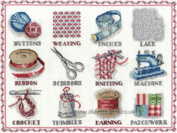 Sewing Sampler Cross Stitch Kit